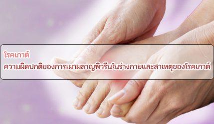 โรคเกาต์ ความผิดปกติของการเผาผลาญพิวรีนในร่างกายและสาเหตุของโรคเกาต์